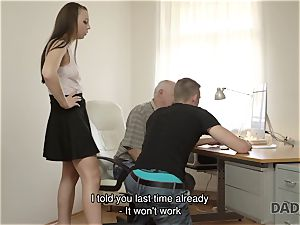DADDY4K. father and young dame red-hot orgy in bed culminates with internal cumshot