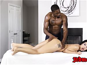 Katrina Jade poked by big black cock after massage