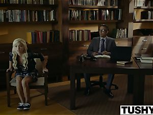 TUSHY.com kinky towheaded anal boned by her Therapist