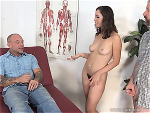 Jade Nile Has Her hubby deepthroat hard-on and witness Her