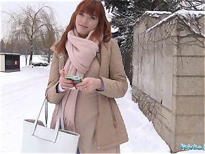 Public Agent German redhead Anny Aurora enjoys knob