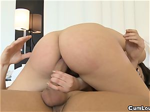 Valentina Nappi riding hard manmeat up her pucker