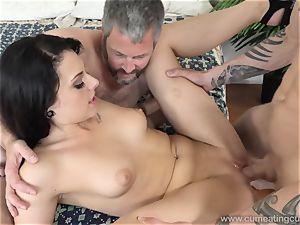 Megan Sages spouse milks tiny spunk-pump As She Gets fucked