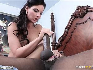 Phoenix Marie is prepped to take a ginormous dark-hued schlong in her cooter
