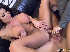 Sybil Stallone and her pal toying with Keiran Lee and his ginormous fuck-stick