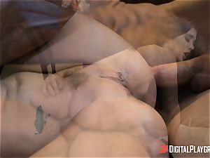 nasty brunette Gia Paige takes it deep up her pussy